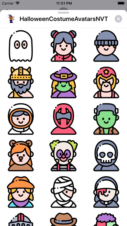 HalloweenCostumeAvatarsNVT