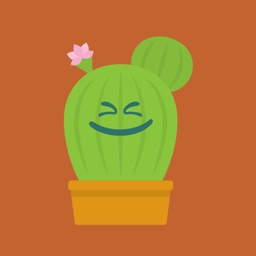 Cactus funny emoji stickers
