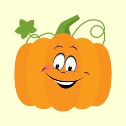 pumpkin sticker hallowen