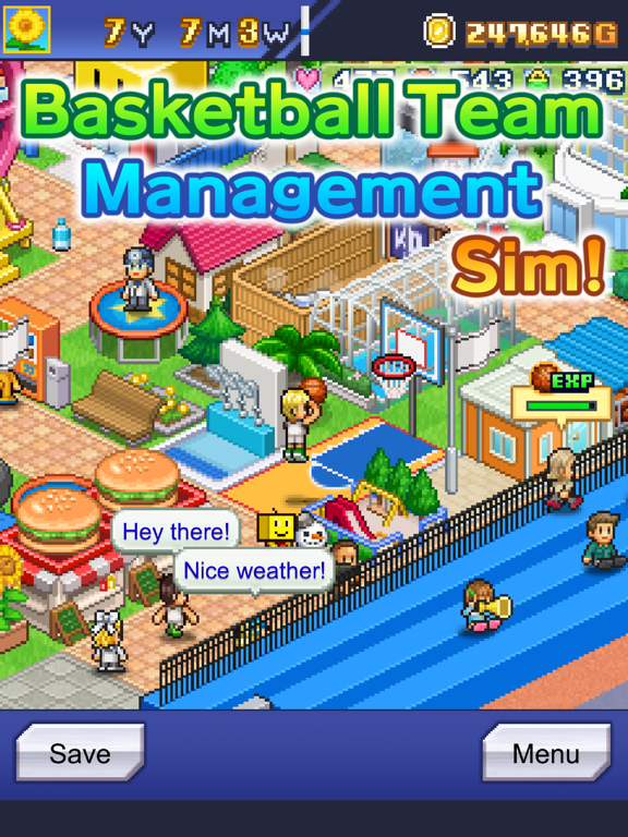 Ipad Screen Shot Basketball Club Story 0