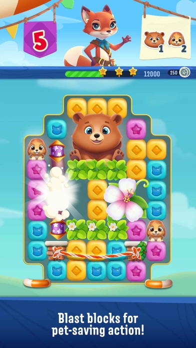 Screenshot for Pet Rescue Puzzle Saga in Indonesia App Store