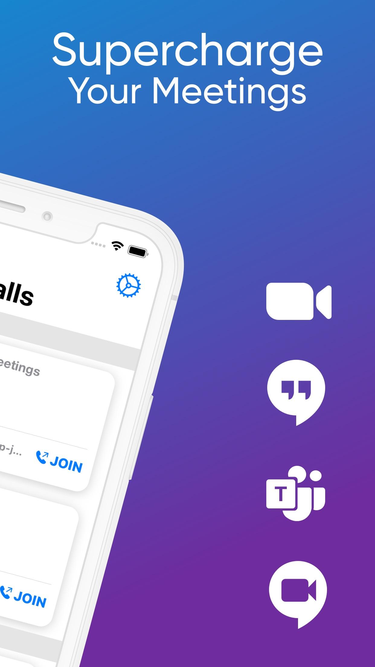 Screenshot do app Meeter for Zoom, Teams & Co