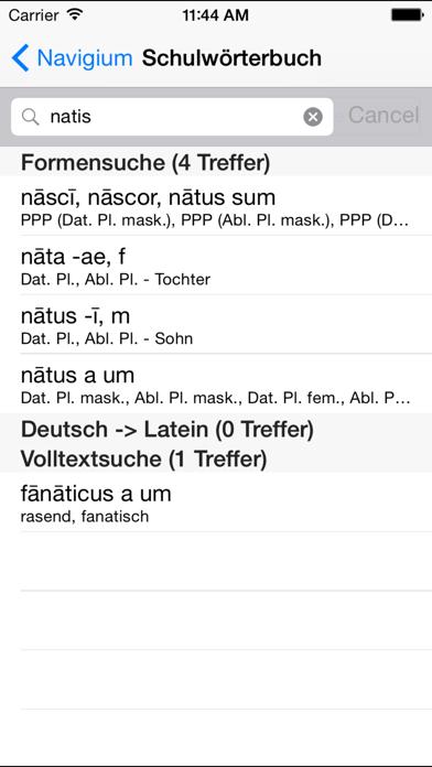 Screenshot for NavigiumSchulwörterbuch Latein in Germany App Store