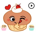 Cute Cupcake Animated Stickers