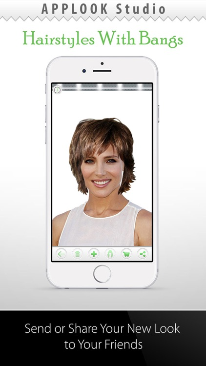 Hairstyle Try On Bangs PRO screenshot-3