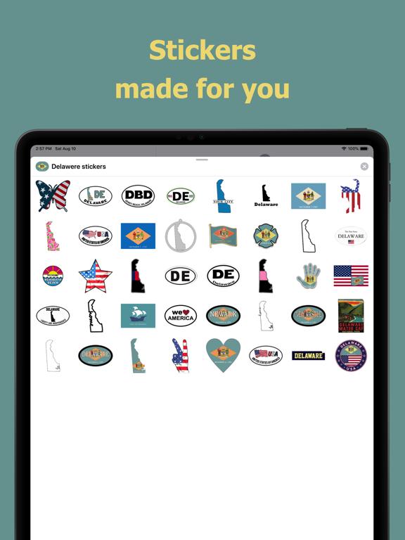 Delaware emojis - USA stickers screenshot 6