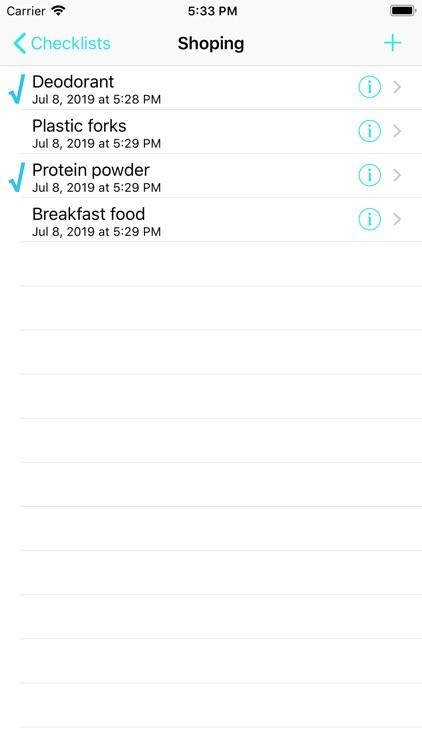 Checklists - to-do items screenshot-3