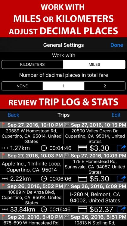 Taximeter. GPS taxi cab meter.