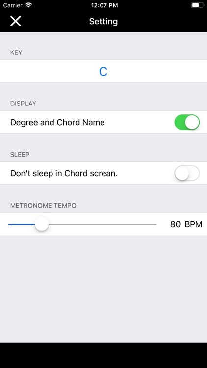 Chord Trainer - various key screenshot-3