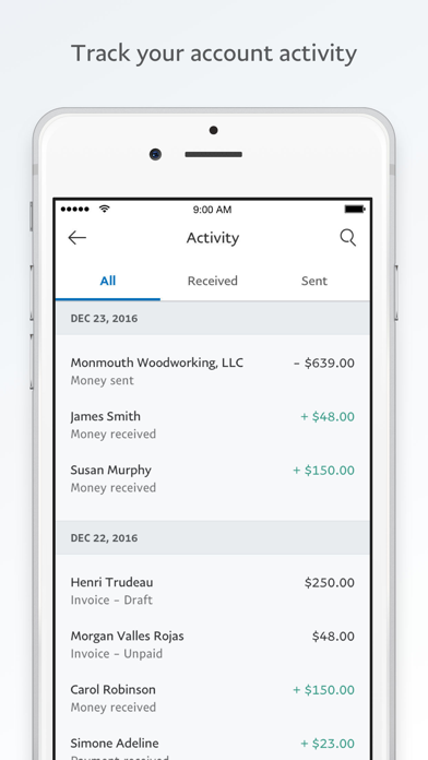 PayPal Business: Invoice Maker App Report on Mobile Action