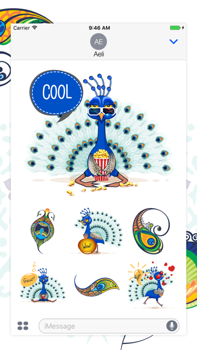 Peacock Stickers screenshot one
