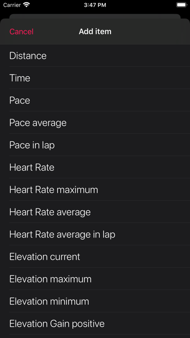 Workout10 - Sport Tracker Screenshot