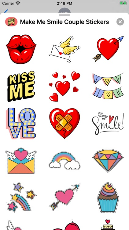 Make Me Smile Couple Stickers