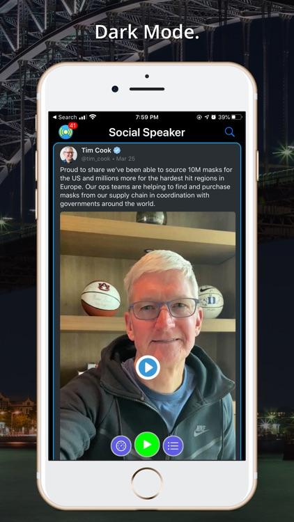 Social Speaker for Twitter screenshot-6