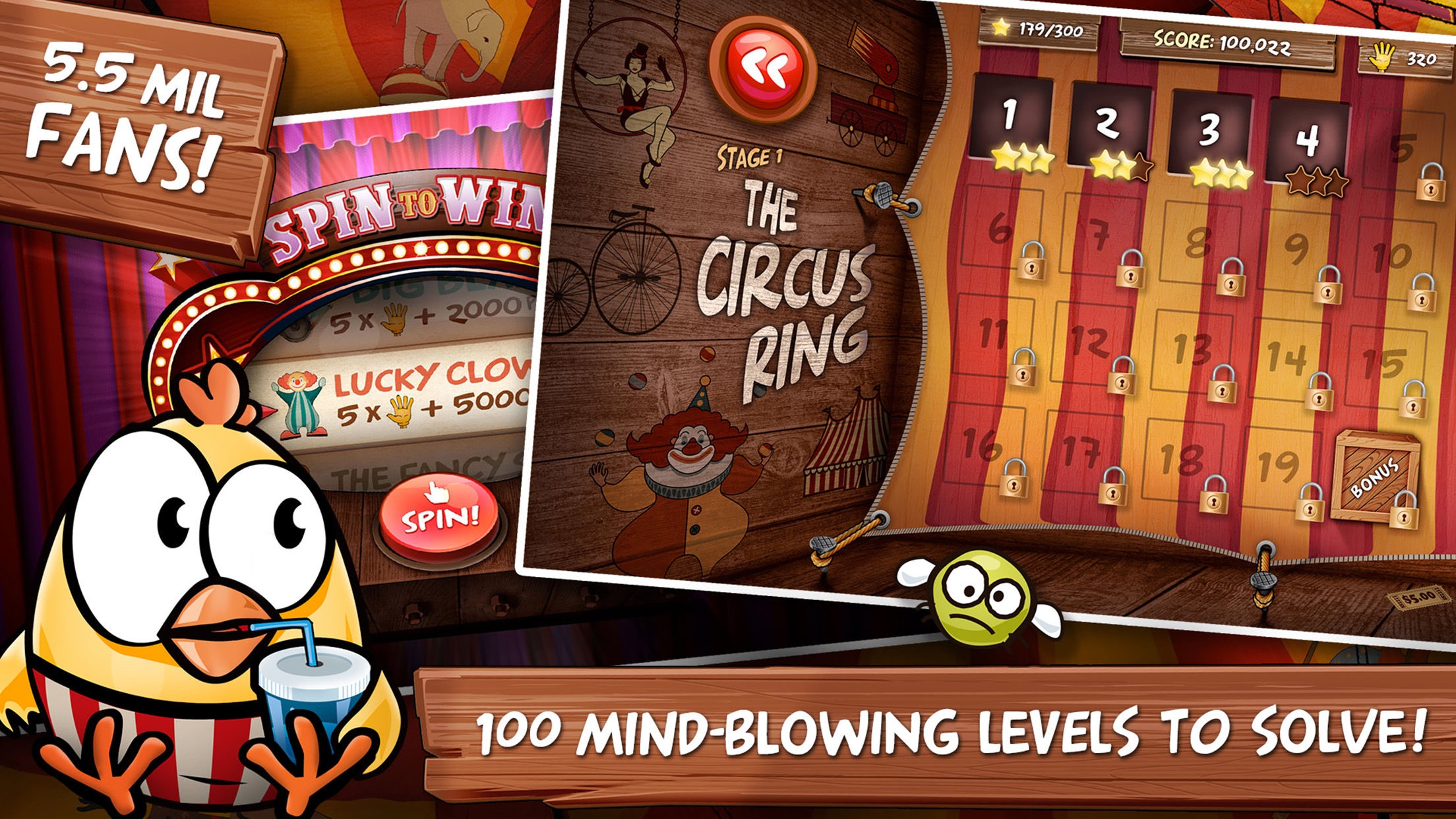 Screenshot do app Drop The Chicken 2 The Circus