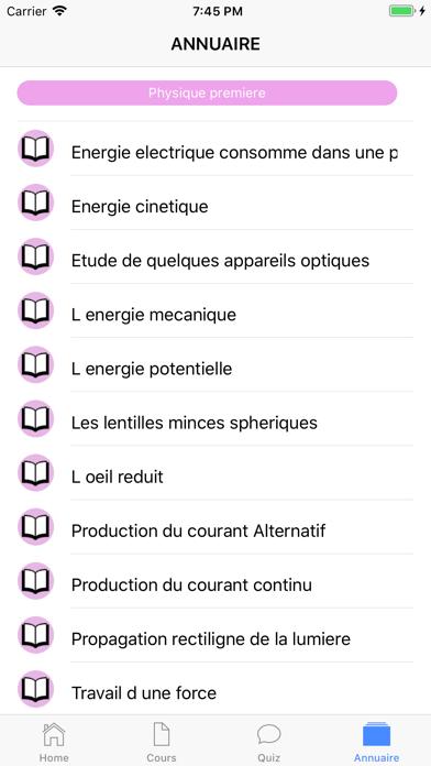 Physique Première S screenshot 6