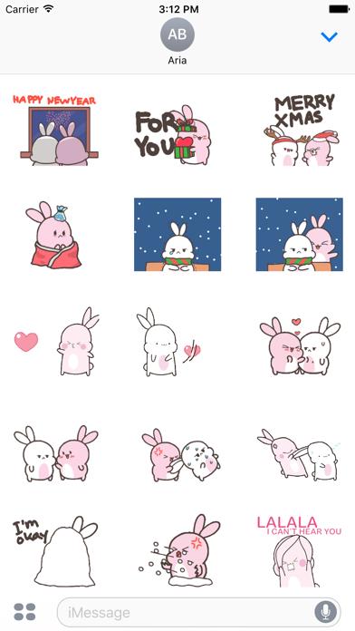 Lovely Couple Rabbit In Winter screenshot 2