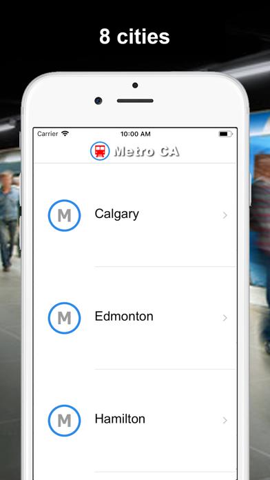 Screenshot #1 pour Métro CA - Montréal, Vancouver