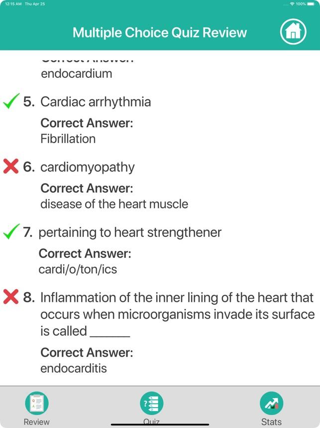 Cardiovascular Medical Terms