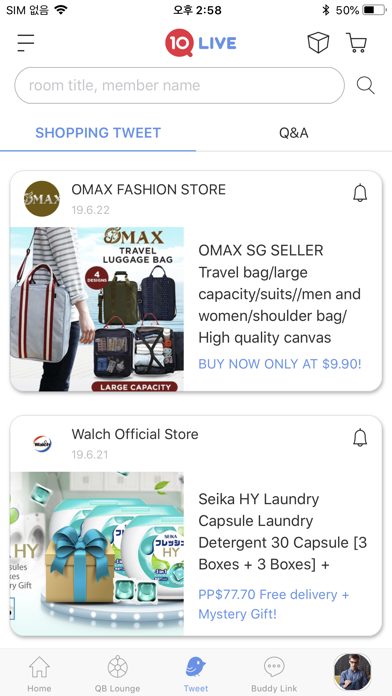 Screenshot for Qoo10 Live in Singapore App Store