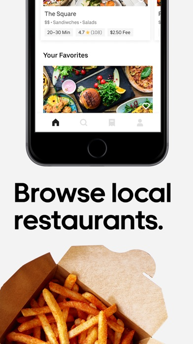 Uber Eats: Food Delivery Screenshot on iOS