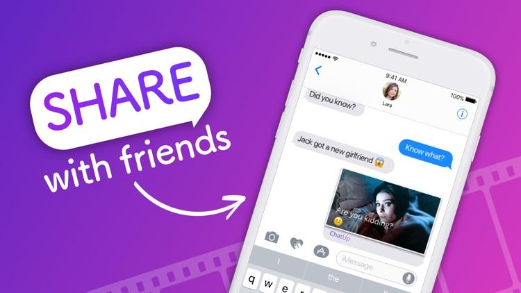 ChatUP - Text & emoji to video screenshot-3