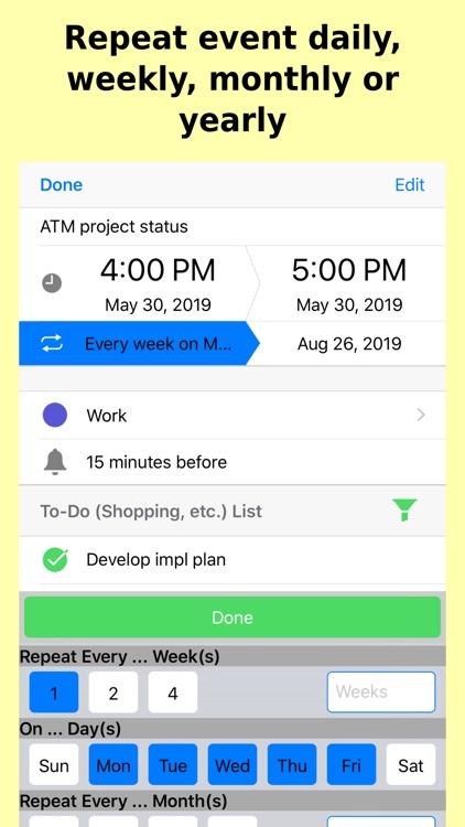 To-Do Calendar: Tasks Planner screenshot-6