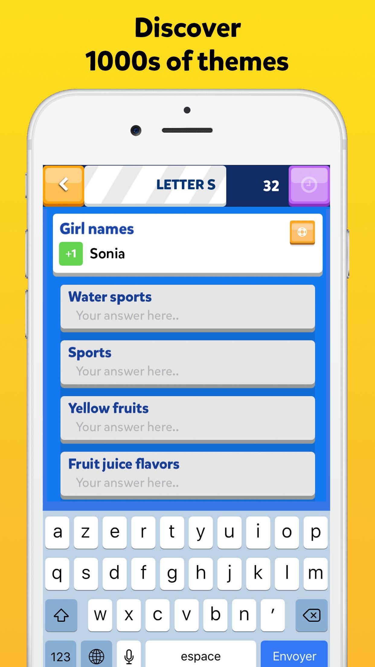 Fight List 2 - Categories Game Screenshot