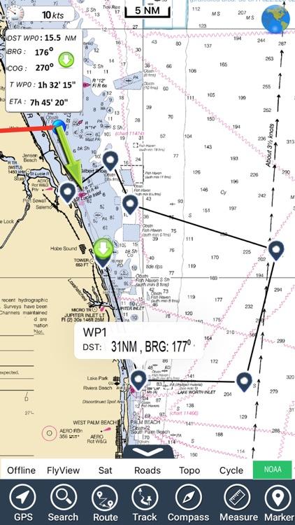 Florida Nautical Charts GPS HD screenshot-6