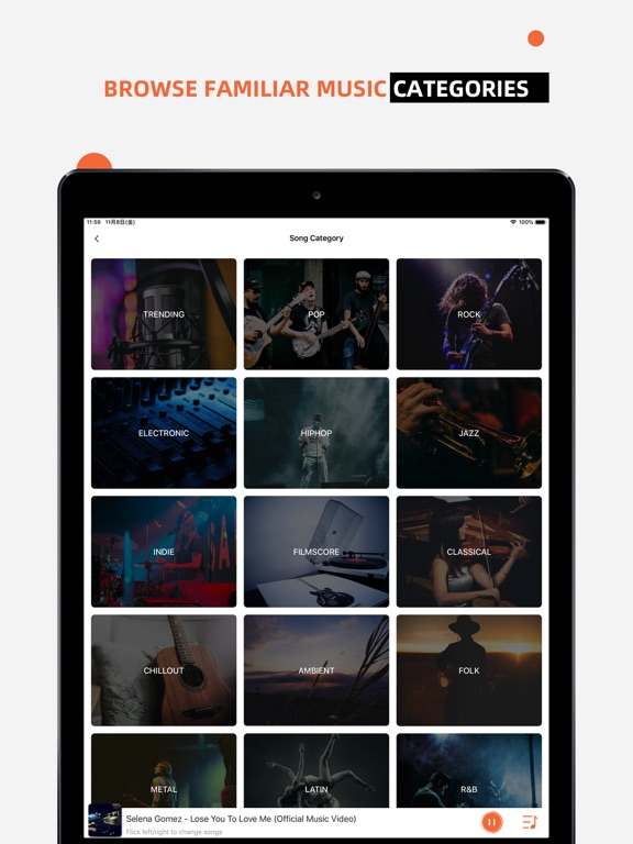 iPad Image of Music Apps - Music Streaming