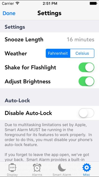 Smart Alarm Sleep cycle saving