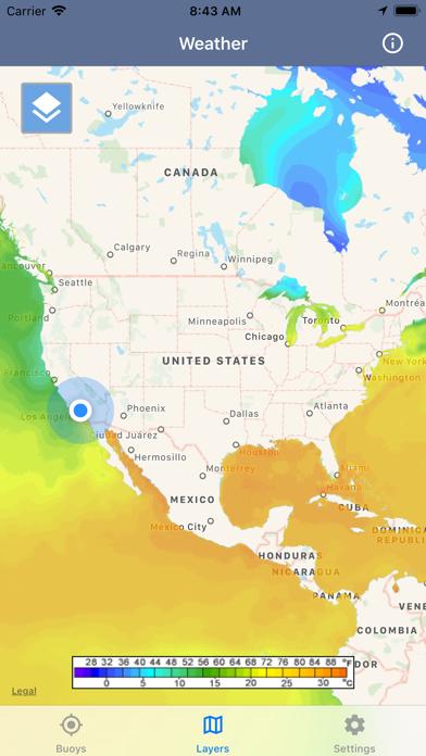 Ocean Water Temperature Screenshot