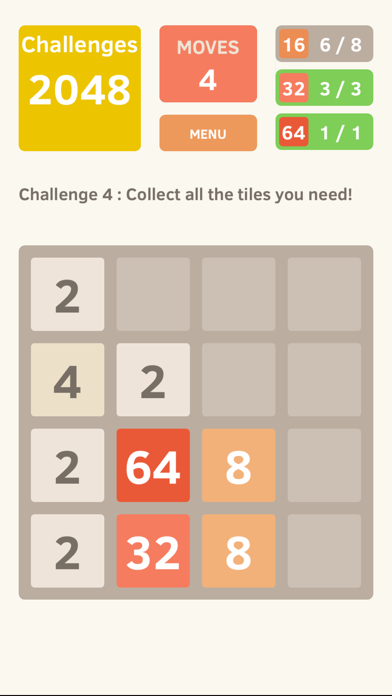 2048 Screenshot on iOS