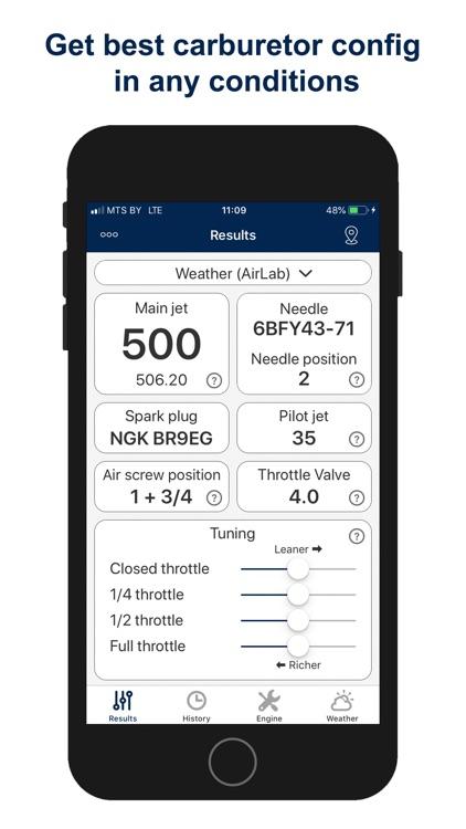 Jetting for Husqvarna 2T Moto screenshot-0