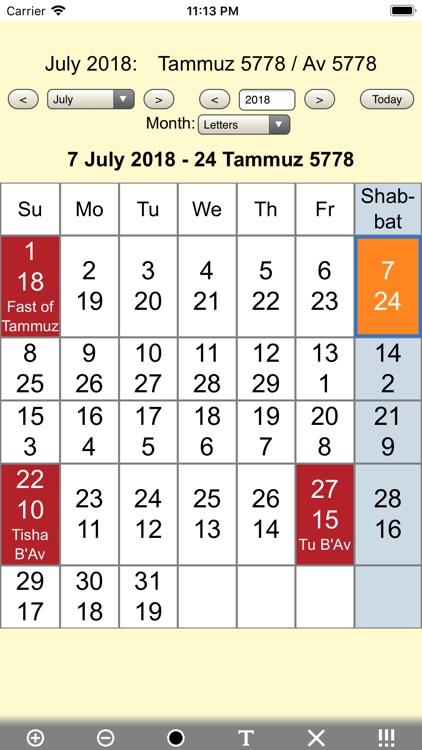 Jewish Calendar and Holidays L