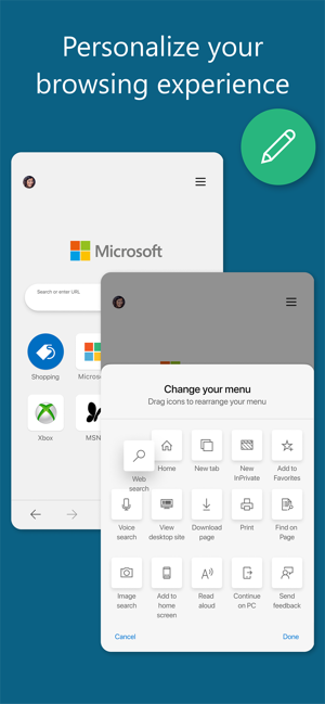 ‎Microsoft Edge Screenshot