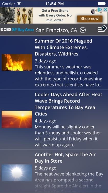 CBS SF Bay Area Weather screenshot-4