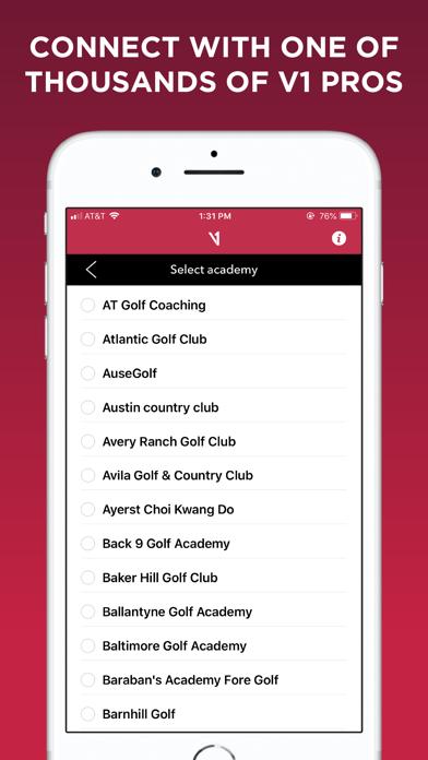 V1 Golf - App - iOS me
