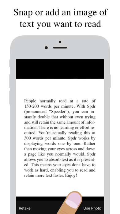 Spdr - Speed Reading Screenshot