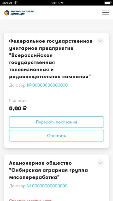 ЛКК ЮЛ ТамбовэнергосбытСкриншоты 1