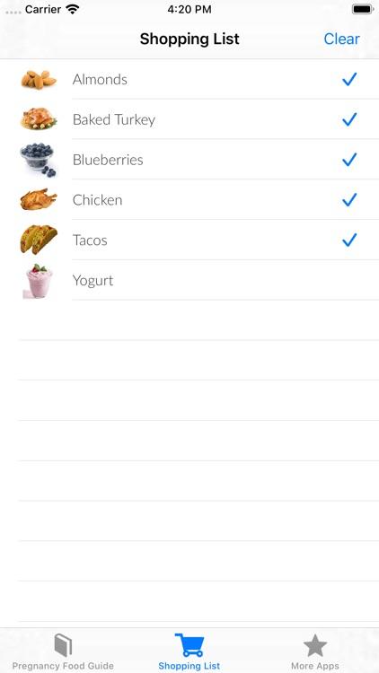 Pregnancy Food Guide screenshot-3