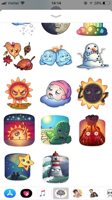 Weather Emoji Funny Stickers screenshot 2