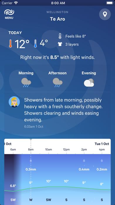 Screenshot for MetService in New Zealand App Store