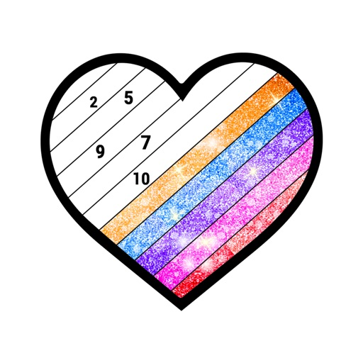 Glitter Color By Number Pages