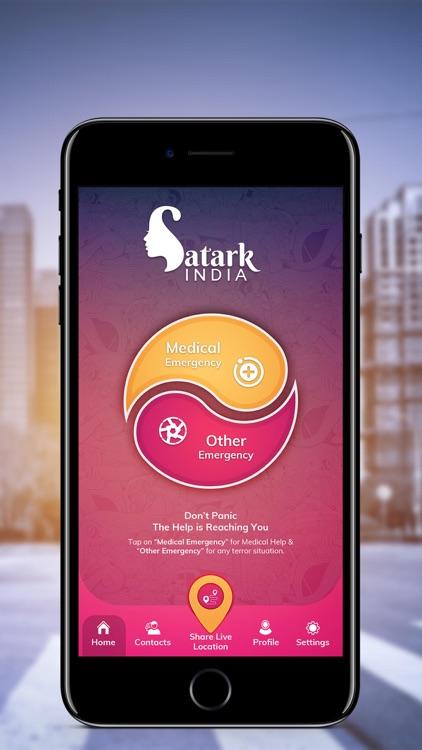 Satark India–Women safety app