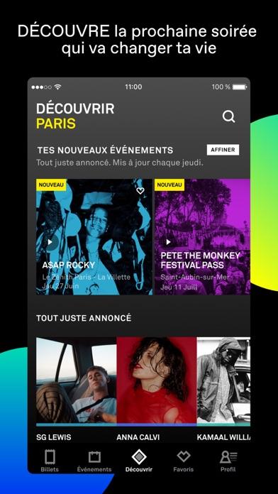 Screenshot #1 pour DICE: billets de concerts