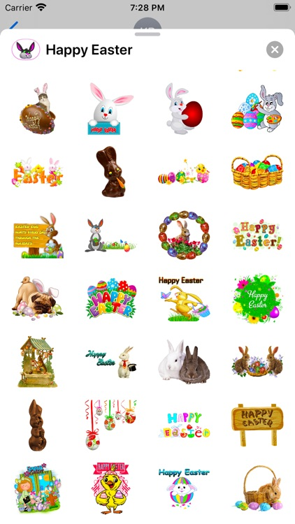 Happy Easter Emoji Stickers screenshot-6