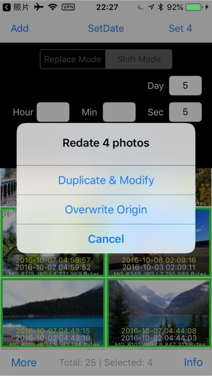 Batch Photo Redate screenshot-5