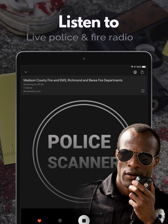 iPad Image of Police Scanner, Live Police