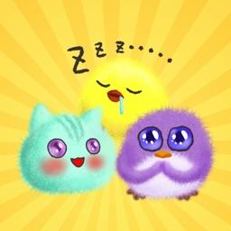 Fluffy Ball Kawaii Stickers